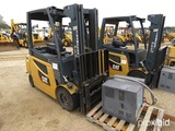Cat 2EP6000 Forklift, s/n FN442501: 80V Electric, w/ Charger, 5930 lb. Cap.