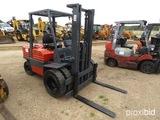 Toyota FD30 Forklift, s/n 10676: 130 Free Lift Mast, Pneumatic, Diesel, Dua