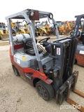 Toyota 7FGCU25 Forklift, s/n 69779: Propane, Side Shift, 4655 lb. Cap