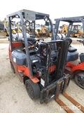 Toyota 7FGCU20 Forklift, s/n 04814: Propane, Side Shift, 4655 lb. Cap