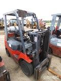 Toyota 7FGCU25 Forklift, s/n 69819: Propane, Side Shift, 4655 lb. Cap