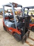 Toyota 7FGCU25 Forklift, s/n 64585: Propane, Side Shift, 4655 lb. Cap