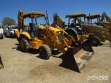 JCB 214 4WD Loader Backhoe, s/n E0466578: 4-post Canopy