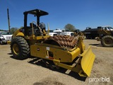 2007 Cat CP563E Padfoot Compactor, s/n CNT01577: 2-post Canopy, Front Blade