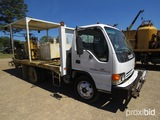 2002 Isuzu MPRHD Road Striping Truck, s/n 4KLC4B1R52J801191: Cabover, Auto,