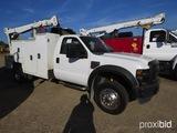 2008 Ford F550 Service Truck, s/n 1FDAF56R68ED99996 (Title Delay): Powerstr