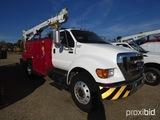 2007 Ford F750 Mechanics Truck, s/n 3FRWF75S97V411347: Cat C7 Eng., Allison