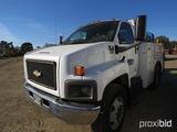 2006 Chevy Truck, s/n 1GBJ6C13X6F400459: Diesel, 5-sp., Air Compressor, Dum