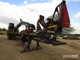 Cat 559 Log Loader, s/n 559PR63382: Trailer-mounted (No Title), Meter Shows