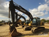 2009 John Deere 200DLC Excavator, s/n FF200DX511496: C/A, Hyd. Thumb, Quick