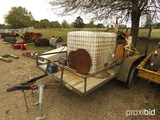 Stowe Concrete Saw, s/n 9900760 w/ Trailer (No Title): Wisconsin Eng.