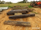 Lot of Creosote Pole & Square Timbers