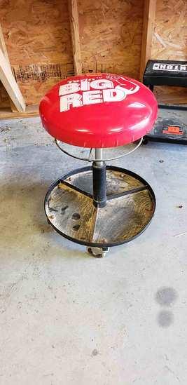 Big Red Rolling Mechanic Stool, Ironton Rolling Mechanic Stool