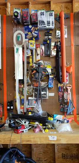 Screwdrivers, Flashlights, Saw Blades, Nuts & Bolts, Hinges and Misc. Items