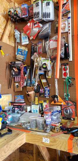 Nuts, Bolts, Saw Blades, Screwdrivers, Tape Measures, Level Heat Gun, Fiber