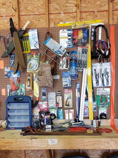Pry Bars, Hatchets, Screwdrivers, Bungee Cords, Locks, Misc. Items