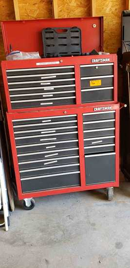 Craftsman Red Rolling Tool Box