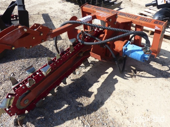 Trencher Attachment, s/n 1160850 for Skid Steer