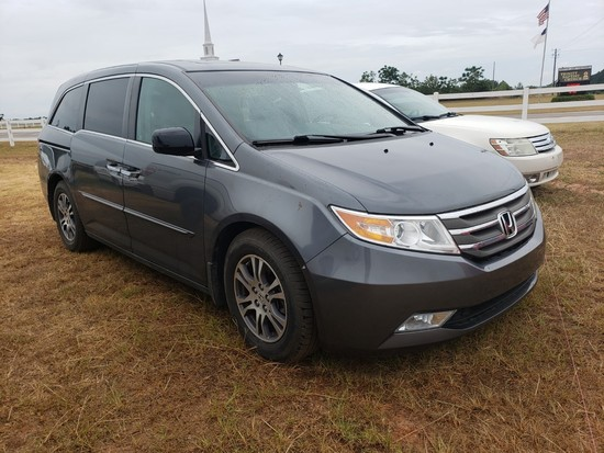 2011 Honda Odyssey, Grey, Showing 33,370 Miles, VIN - 5FNRL5H69BB020174