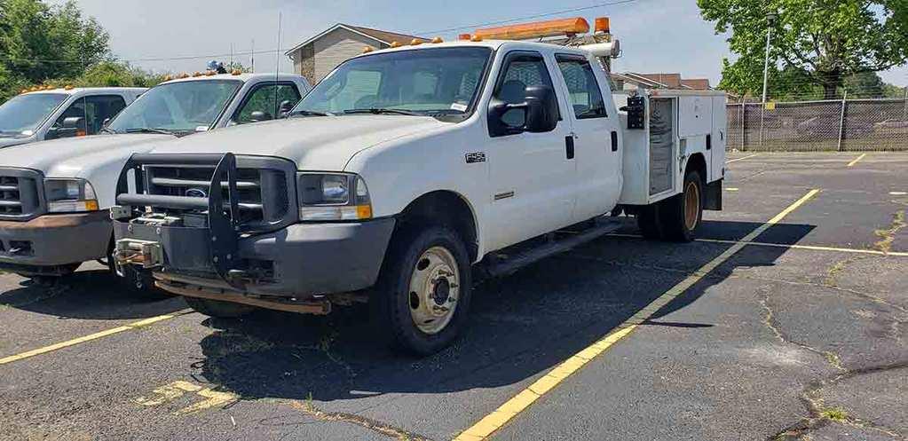 2003 Ford F450 Super-duty Truck, s/n 1FDXW47P63EC90027: 4wd, Diesel Eng., 4