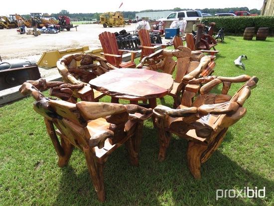 Teak Table and 4 Teak Chairs