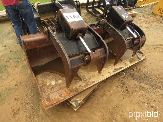 "Cat 74"" HD Grapple Bucket fits Skid Steer"