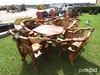 Teak Table and 4 Teak Chairs