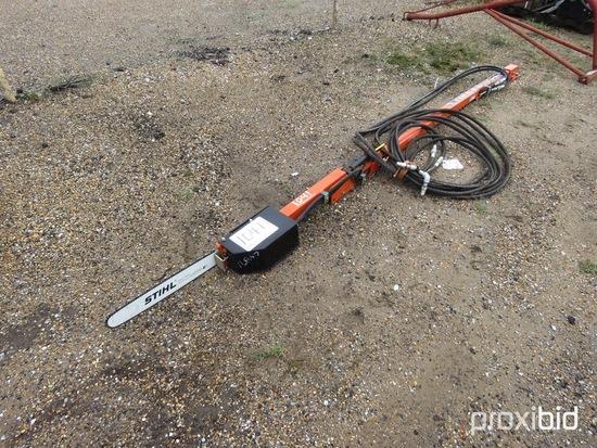 Stihl Limb Saw, s/n 11709: Hydraulic, Mounts to Tractor