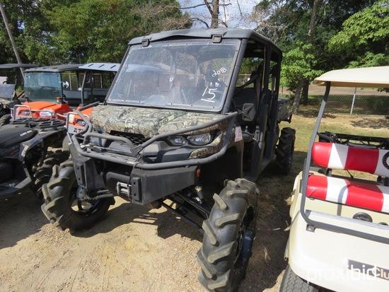 2017 Can-Am Defender XT1000 ATV, s/n 3JBUCAP4XHK001574 (Has Title - $50 Tra