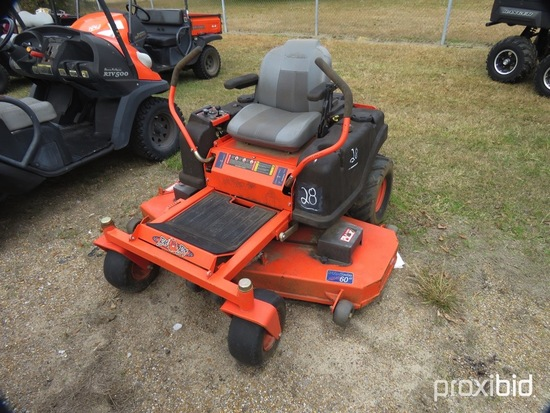 "Bad Boy ZT60 Zero-turn Mower, s/n 3121620: 60"" Cut, Kohler 27hp Eng., Meter"
