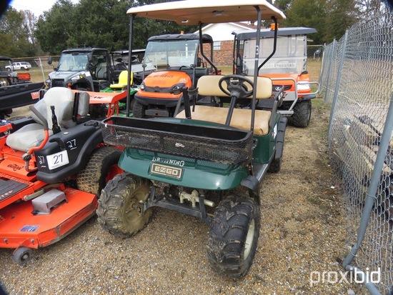 EZGo Electric Golf Cart, s/n 2132098 (No Title): 36-volt, Gun Rack, Rear Ra
