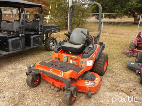 Kubota ZG327PA-60 Zero-turn Mower, s/n 52470: Meter Shows 1455 hrs