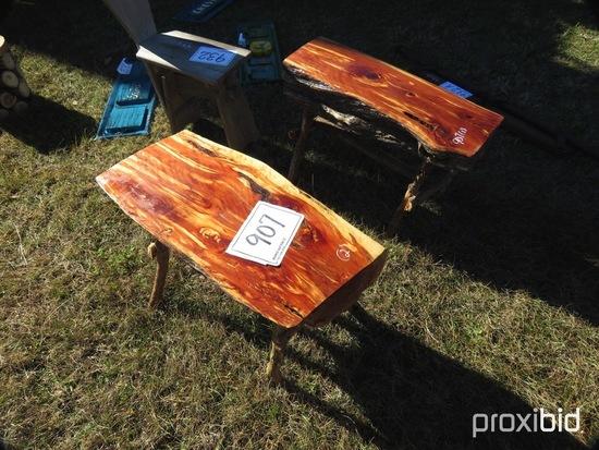 (2) Cedar Benches