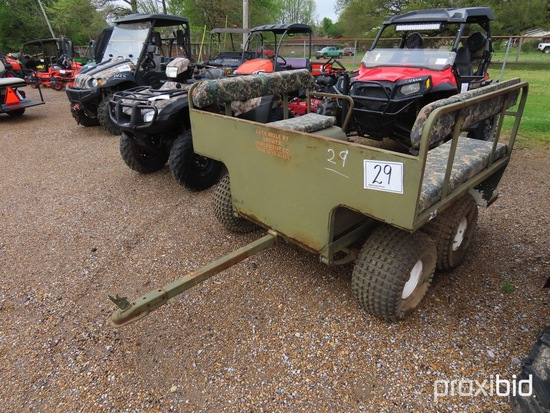 Pack Mule Hunting Cart: 2 Bench Seats, Bumper-pull, 2-gun Racks