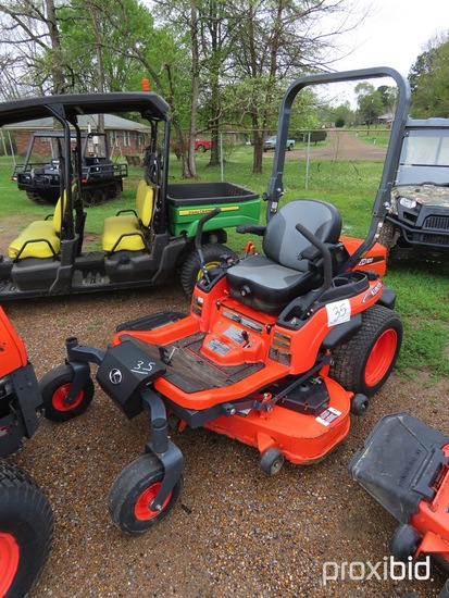 "Kubota ZD1011 Zero-turn Mower, s/n 10072: 54"" Cut, Meter Shows 190 hrs"