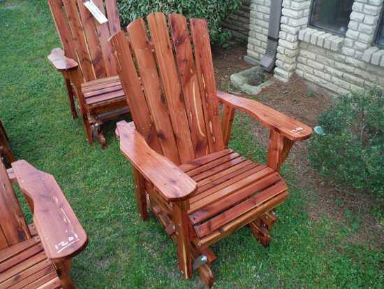 Cedar Glider Chair