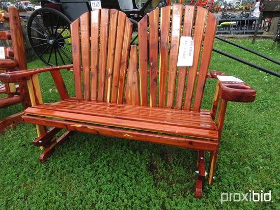 Cedar Bench Glider