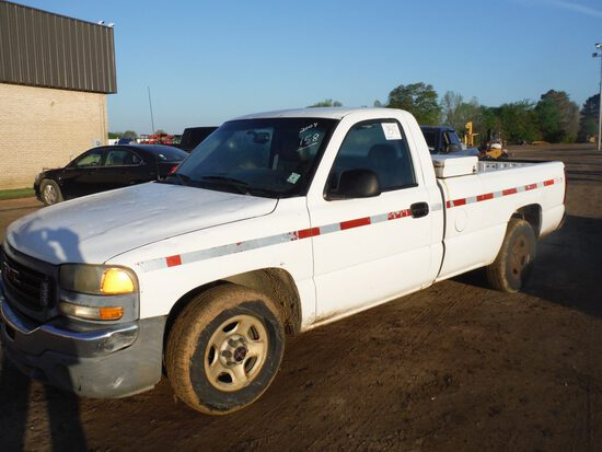 2004 GMC Pickup, s/n 1GTEC14V84Z296461: 2wd, Auto, Odometer Shows 170K mi. (Ownedy by MDOT)