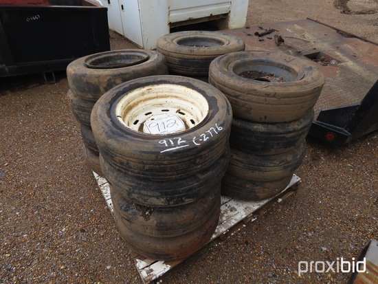 (16) Tires and Rims for Batwing Mower