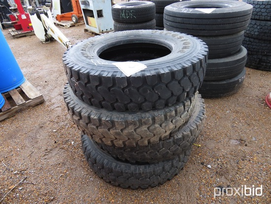 (4) Firestone 11R22.5 Used Tires