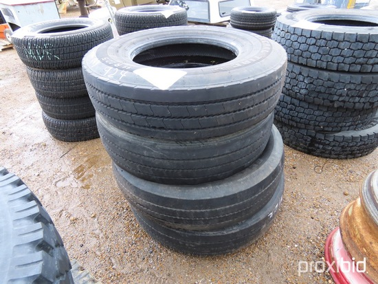 (4) General 11R22.5 Used Tires