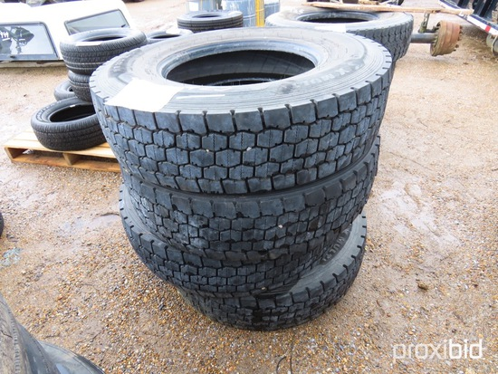 (4) Michelin 11R22.5 Used Tires