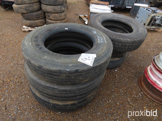 (5) 295/22.5 Tires and (1) 285/75R24.5 Tire