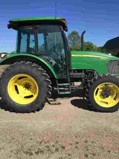 John Deere 5083E MFWD Tractor, s/n LV5083E160819: Encl. Cab, Cold A/C, Left