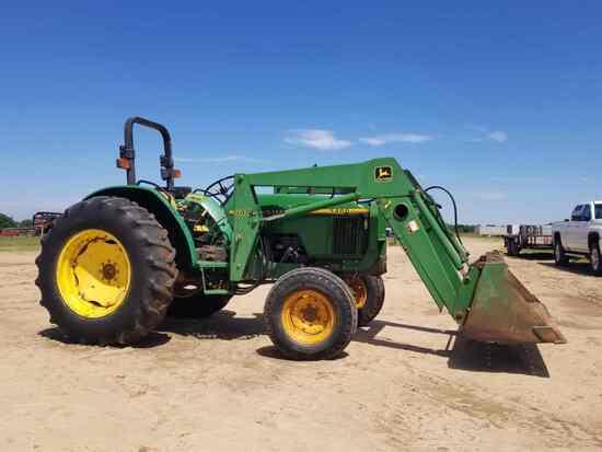 John Deere 5400 Tractor, s/n LV5400E642126: 2wd, JD 540 Loader w/ Bkt., Hol