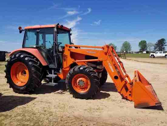 Kubota M108X MFWD Tractor, s/n 50122: Encl. Cab, Cold A/C, Kubota LA1301S S
