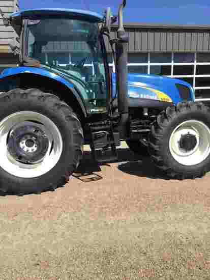 New Holland T6030 MFWD Tractor, s/n ZABD05189: Encl. Cab, A/C, Buddy Seat,