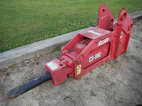Allied CS880 Hydraulic Hammer: (Located in Philadelphia, Mississippi)