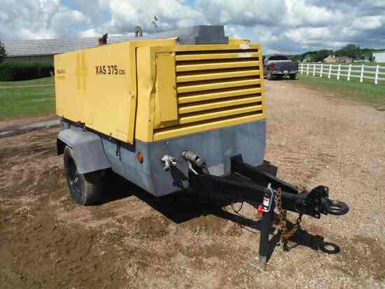 2014 Atlas Copco XAS375 Portable Air Compressor, s/n R074001: Cat 4.4L Dies