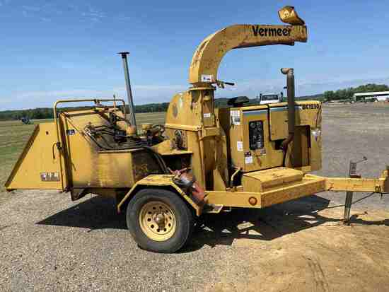 Vermeer BC1230A Chipper, s/n 1VRN15177Y1003298: Trailer-mounted (No Title),
